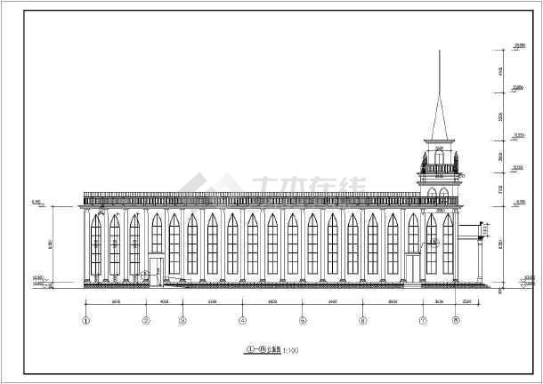 某地教堂完整建筑结构设计图
