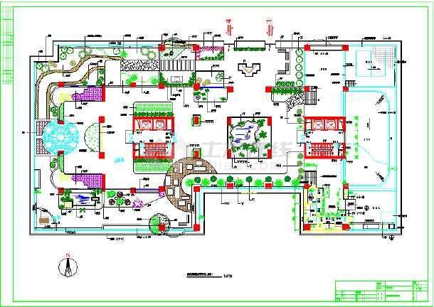 风景区规划设计    共4张立即查看 大厦架空层景观设计图纸(带植物