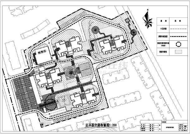 某住宅小区景观工程平面施工详图图片