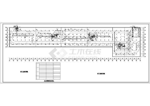 某小区地下车库通风排烟设计施工图纸-图1