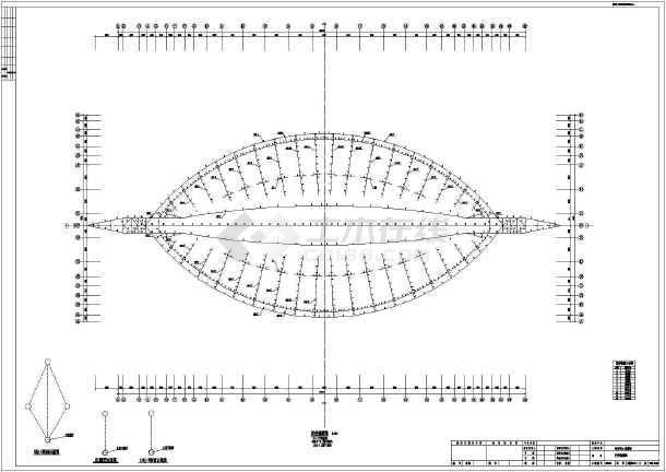 钢管桁架结构体育馆钢结构施工图(全运会场馆)图片3
