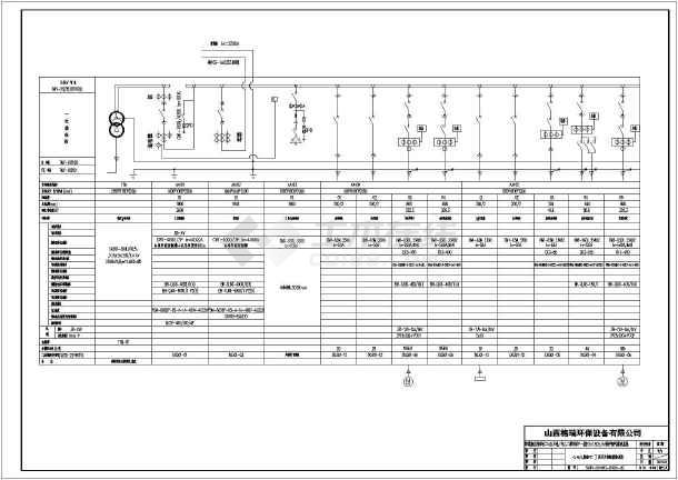 【山西】化工厂变电所低压配电系统图及原理图图片