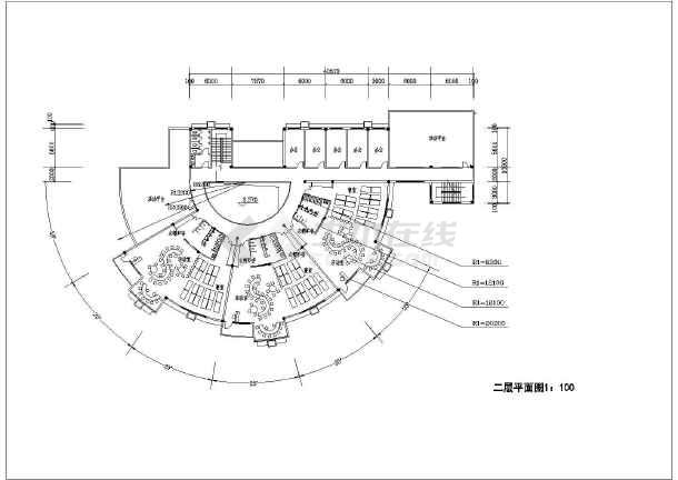某幼儿园建筑设计规划图总图(平面图,cad图)