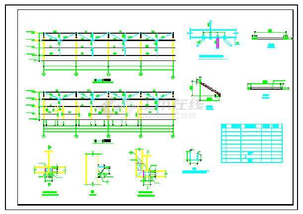 【贵州】某地单层门式刚架厂房结构设计图纸