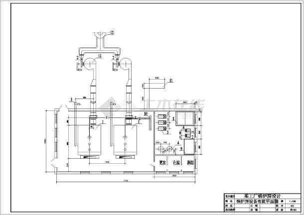 【南通】某大型工厂废气处理施工图-图1
