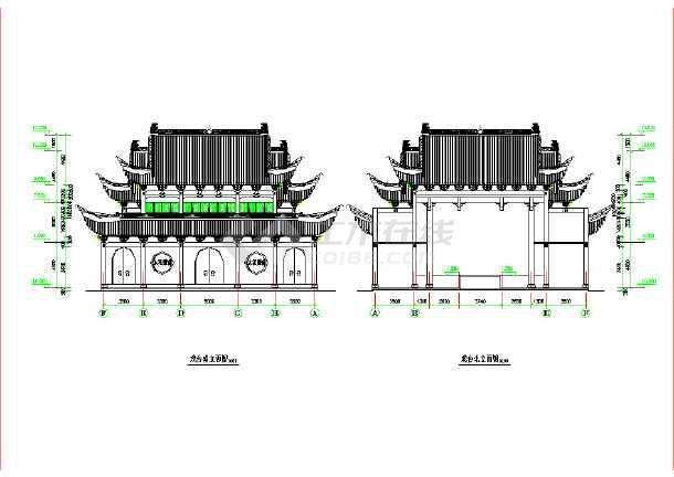 某地古建筑小型图纸图纸设计施工祠堂熊猫戏台屏功夫锁图片