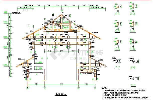 某地古建筑小型戏台家装设计施工图标祠堂插座图纸图纸图片