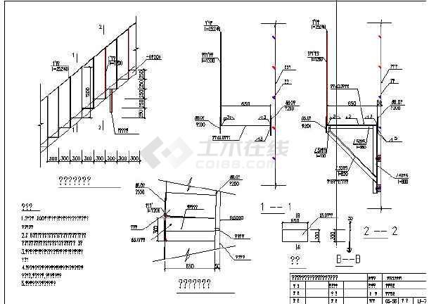 某粮食钢板仓的结构cad图(单个钢仓设计)