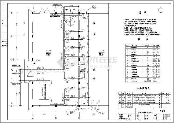 某地泡沫及消防水泵房安装设计施工图