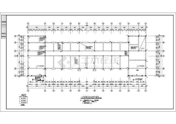 三层办公楼结构设计施工图,包括结构设计总说明,基础结构布置平面图