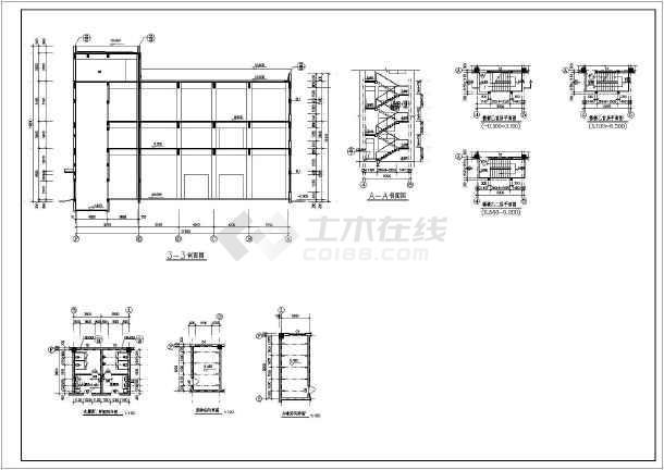 某工厂两层框架结构厂房建筑设计施工图