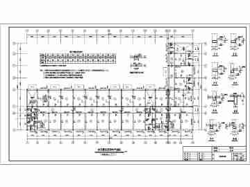 某单位三层办公宿舍楼电气,结构设计图