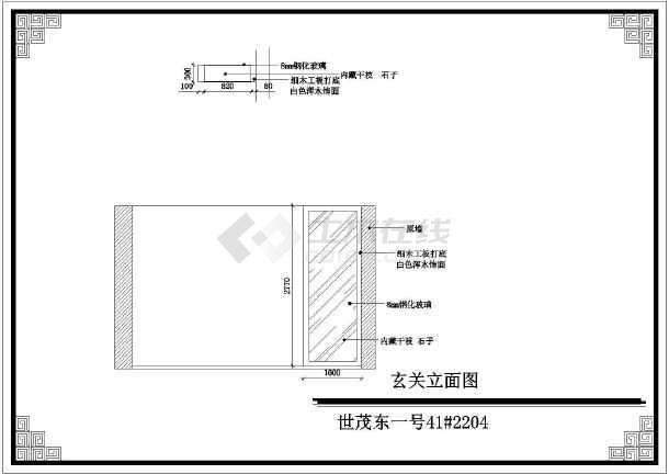 某三室两厅详细室内装修设计施工图纸