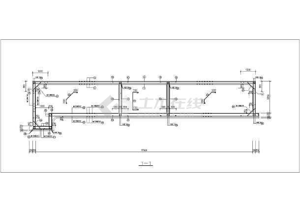 某单层框架结构辅助用房全套结构施工图