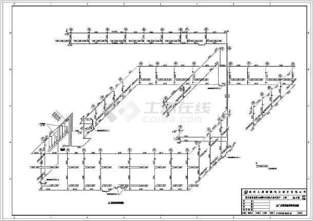 新疆某图纸主图纸制图、要求设计施工机械_c电厂采暖通风厂房图片