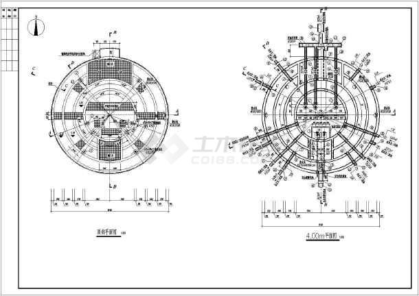 某结构集配水井及厂区提升泵池污泥设计图_c路边灯箱广告设计图图片