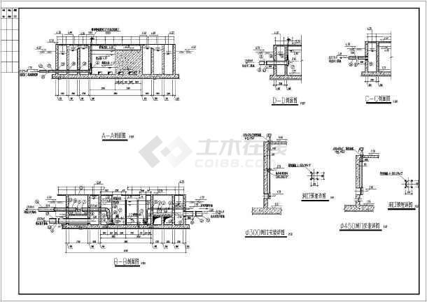 某结构集配水井及污泥提升泵池厂区设计图_c国内平面设计大牛图片