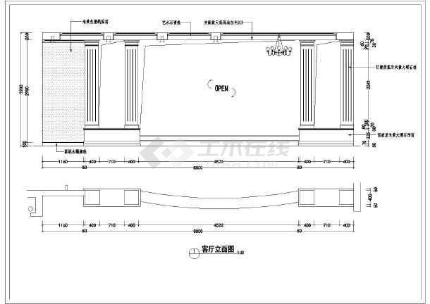 某地三层混合结构别墅室内装修设计全套施工图