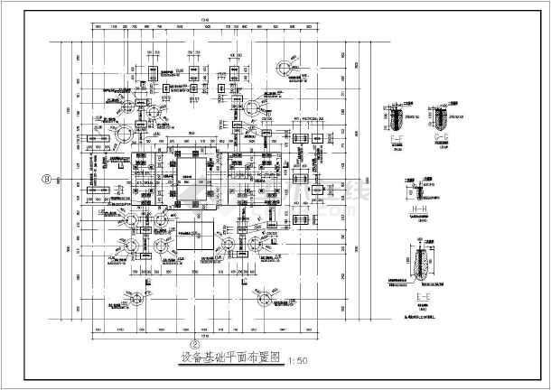 空气,天然气,氮氢气联合压缩机基础图图片
