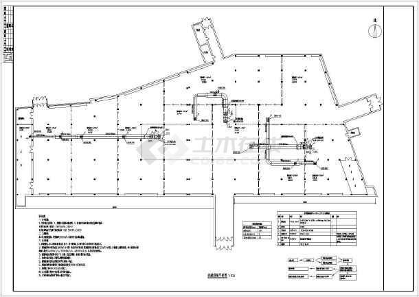 本图纸为某系统图纸单层服装排烟和喷淋理念v图纸机械,建筑面积3600两情相悦建筑设计卖场图片