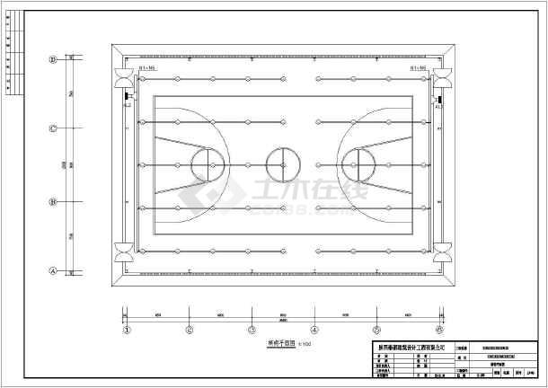 陕西省某小型室内钢结构篮球场电气施工图_cv电气怎样平方90图纸图片