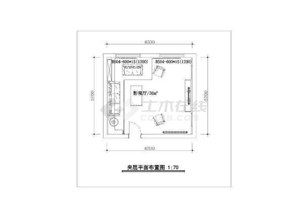 某小区别墅建筑装修施工图及地暖散热片安装布局图