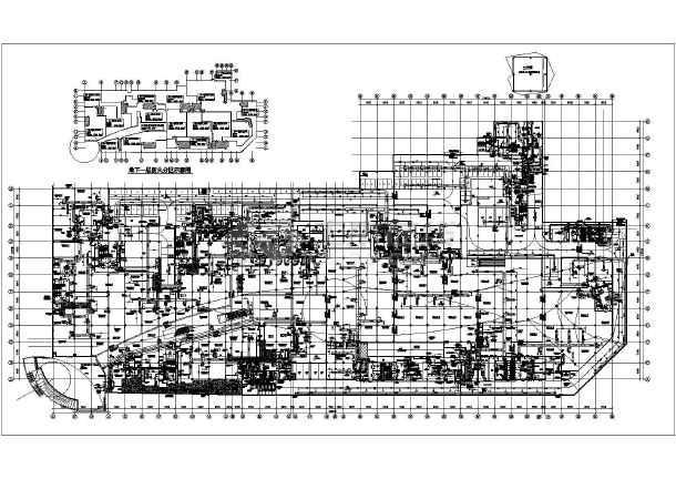 某地下工程通风防排烟设计施工平面图图片1