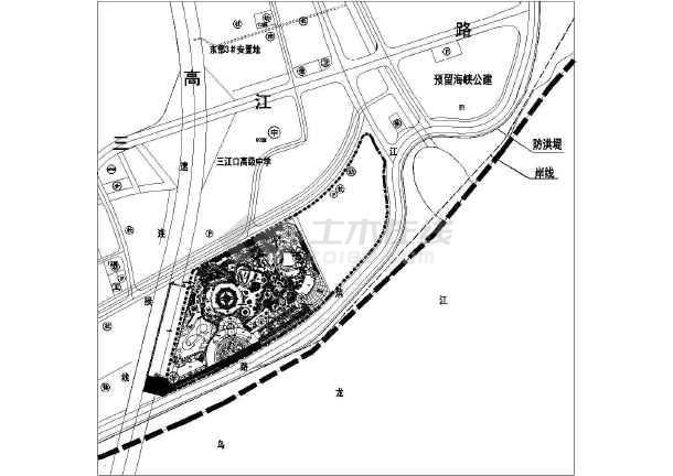 某大型儿童游乐园景观规划设计平面布置图