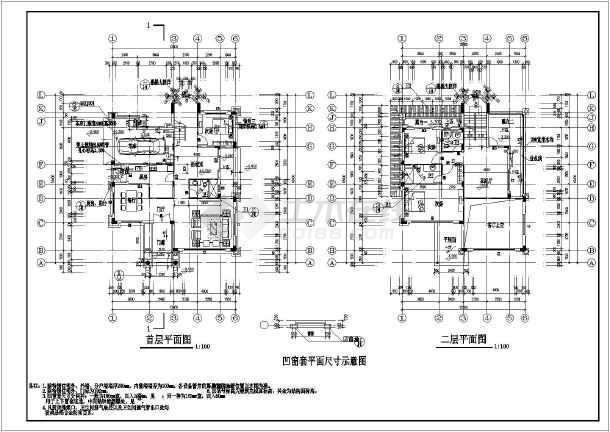 鄂州市3层低层图片高端别墅全套建筑专业大全施工图门廊别墅结构框架图片
