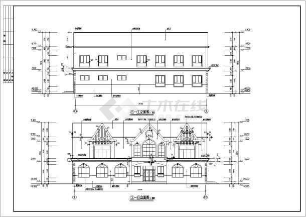 图纸 建筑图纸  办公楼设计  欧式办公楼  新疆某地2层框架坡屋面欧式