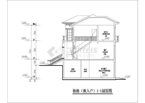 田园欧式风格别墅框架结构建筑施工图