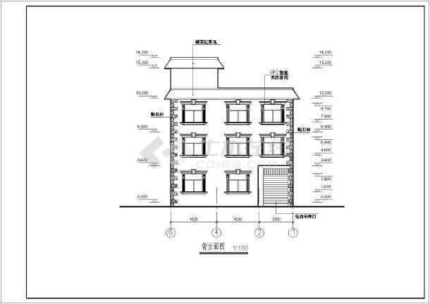 三层砖混结构私人别墅建筑设计施工图