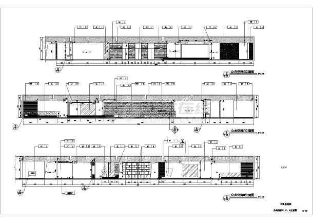 某公司的1200平方办公室装修设计方案图纸图片1