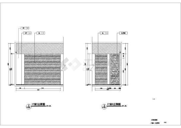 某公司的1200平方办公室装修设计方案图纸图片3
