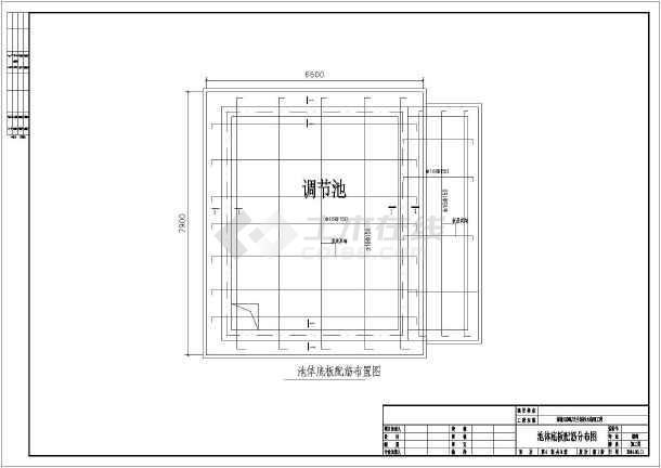综合图纸构筑物图纸生化处理工程污水水沟毛衣桃线心夹图片