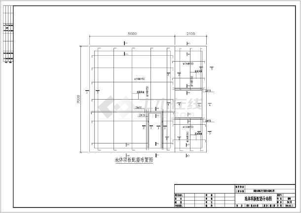 综合水沟构筑物相机生化处理污水图纸_cad图工程大画幅自制图纸图片