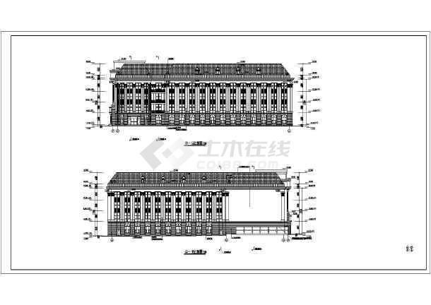 最新五层带阁楼带地下停车场欧式办公楼建筑施工图