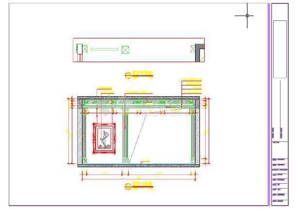 欧式风格三室一厅室内装修设计图纸