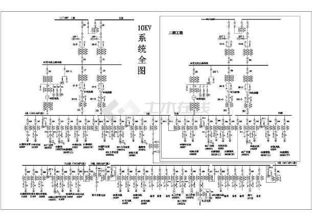 专题首页  火电厂系统图  所属分类:  电气图纸     cad电气原理图