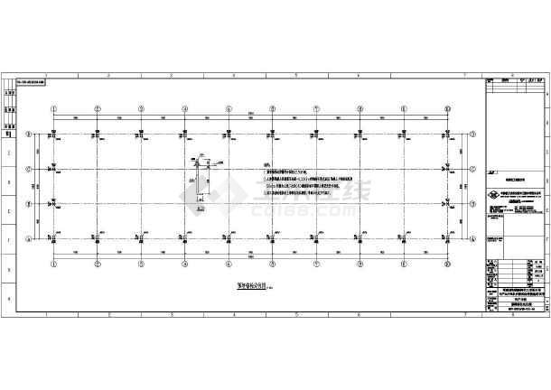 某地区单层钢结构厂房设计施工图纸
