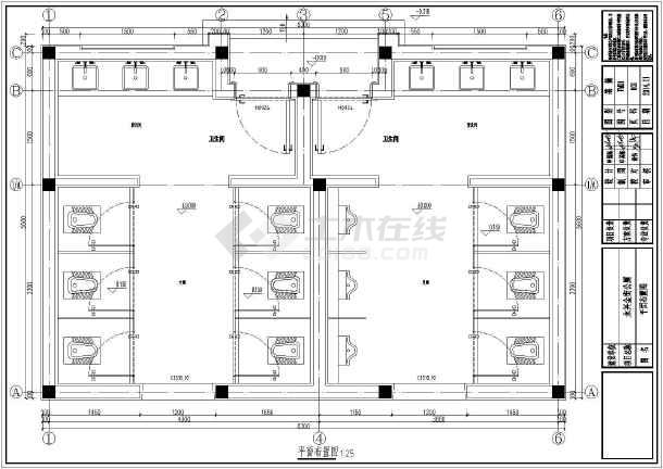 公共厕所设计_美观大方的中式公共厕所设计图_cad图纸下载-土木在线