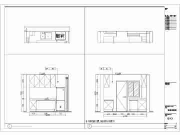 两室一厅一卫一厨装修设计图
