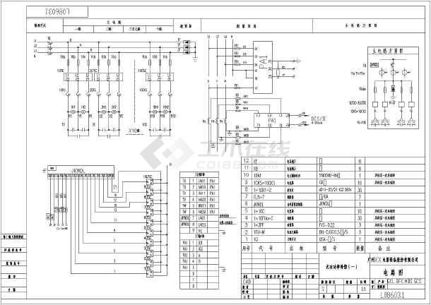 某项目一套低压配电柜一二次图设计