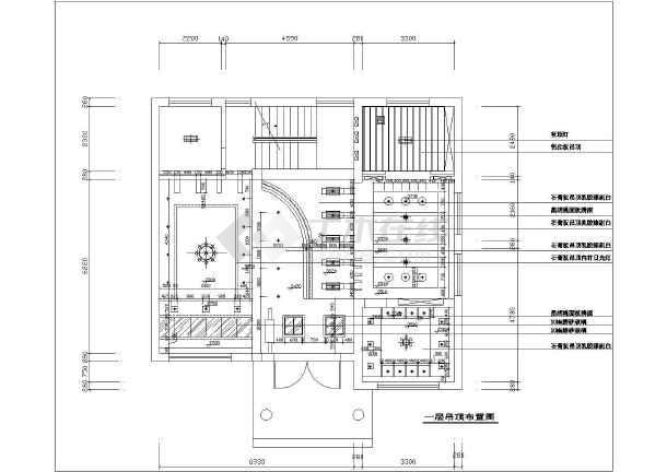 某三层别墅室内装修设计施工cad图纸