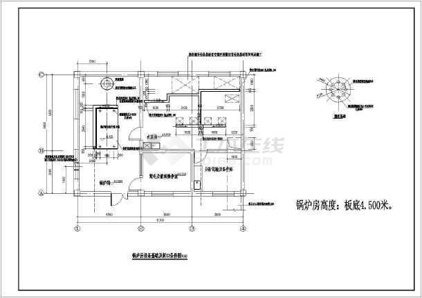 某地区锅炉房平面布置设计施工套图图片