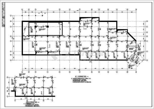 某地砼框架结构幼儿园结构部分施工图纸(cad图纸下载)