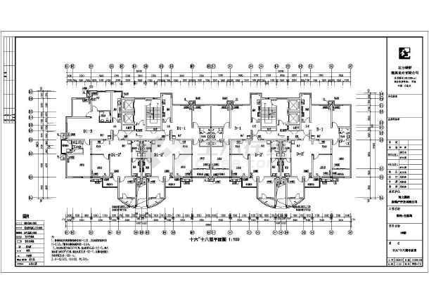 某地18层框剪结构住宅楼建筑设计施工图