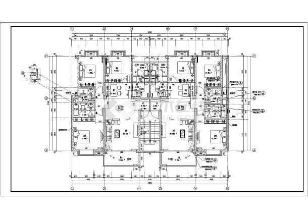 某地古建步行街4层框架结构建筑施工图