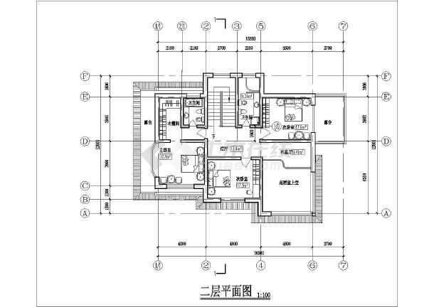 某农村二层小型别墅建筑方案设计图