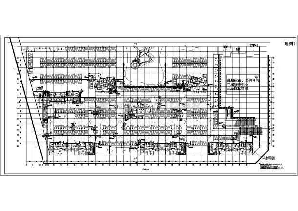 汉邦景城小区单层地下车库建筑设计施工图
